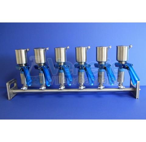 rampe de filtration 3 postes en inox,  Dim. : 47/50mm