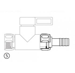 Reducteur de tuyau 4 mm avec filetage femelle R 3/4