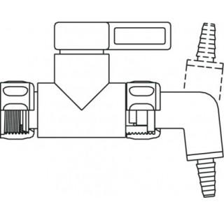 Bec filetage R 3/4 femelle diametre 6-8mm