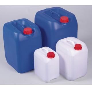 Bidon bleu 30 litres HDPE dimensions 320x284 mm hauteur 435 mm , 1250 g diametre interne du col 48,5