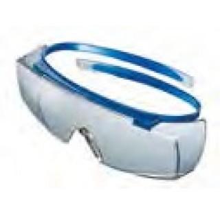 Sur-lunettes bleues avec branche sans charnieres et extremites de branches souples DIN EN166-168 et