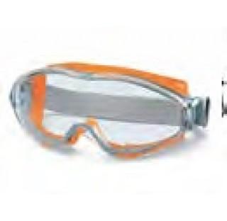 Lunettes de protection Ultravision, verres anti choc avecsysteme de purge , orange ,DIN/EN.