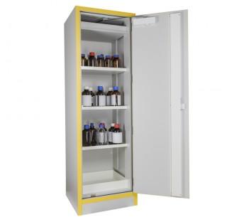 Armoire 130 litres equipee a 2 portes ,3 Etageres et un bac de retention en acier, armoire de securi