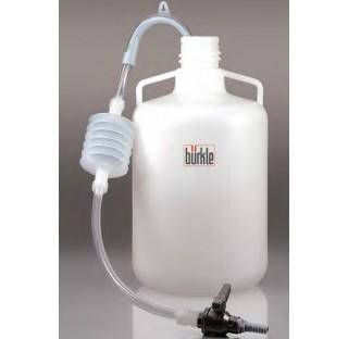 Siphon avec robinet a bille en LDPE/PVC/PP profondeur d'immersion 1000 mm , diametre interne du tuya