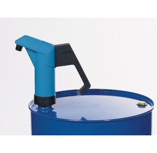 Pompe a levier compact 300 ml par courseen polyethylene ,avec raccord filete 2 BSP , profondeur d'im