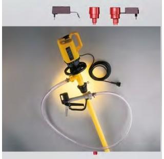 Pompe vide-fut pour acides et bases profondeur d'immersion 100 mm diametre de tuyau 41 mm , en polyp