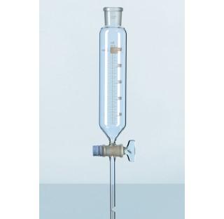 ampoule de separation DURAN, avec graduation, avec robinet RIN et et securite au robinet, 50 ml
