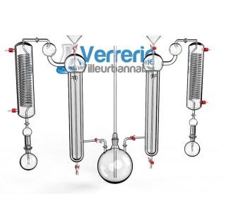 Appareil a distillation sous courant de vapeur  pour azote ammoniacal  selon Kjeldhal constitue de :