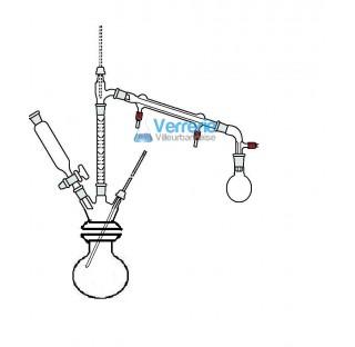 Appareil en verre a huiles essentielles pour distillation 1000ml constitue de:Un ballon 1000 ml avec