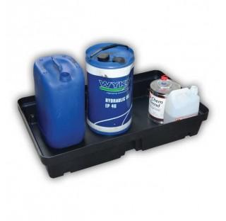Bac de retention a 20L a sans caillebotis dimensions 155x600x400 mm charge admissible 50 kg, capacit