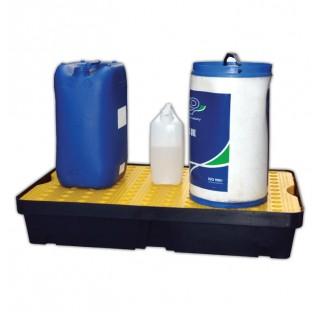 Bac de retention a 30L a sans caillebotis dimensions 155x805x405 mm charge admissible 50 kg, capacit