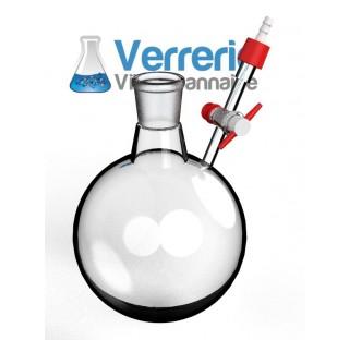 Tube Shlenk forme ballon 250 ml rode 29/32 avec robinet cle verre voie de 2,5 mm verre Pyrex verreri