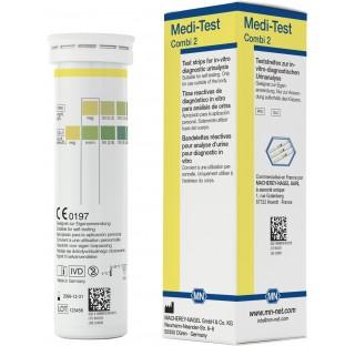 Bandelettes de tests urinaires Medi-test, contrôle du glucose et de la protéine. Durée de vie 2,5 an