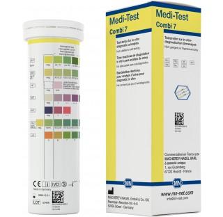 Bandelettes de tests urinaires Medi-test Combi 7, contrôle de l'acide ascorbique, sang, glucose, cét