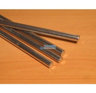 Barre en Duralumin Diam 12 x Lg 1000 mm pour montage d'ensemble de verrerie de laboratoire sur paill