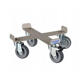 Base roulante inox pour seaux avec un frein pour ref : 8348BOC