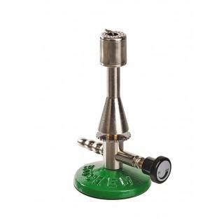 Bec Teclu a valve gaz naturel 1,53 Kw 23mBar 120 g/h 1300 degre diam de base 76mm hauteur 180mm tubu