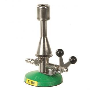 Bec Teclu multi gaz avec robinet 0,5-3Kw 5-100mBar diam de base 78mm longueur 160mm 1300 degre