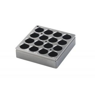 Bloc chauffant 16 postes  diametre de trous 15,2 mm , volume : 4 ml , dimensions: 79x79 mm