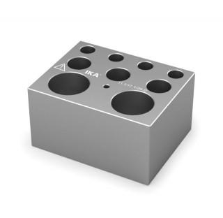 Block pour assortiments de microtubes 4 trous diametres 11,1 mm prof 39,1 mm , 3 trous diam 17,1 mm