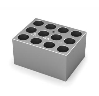 Block pour tubes fond rond 15/16 mm 12 trous , diametre des trous 17,5 mm profondeur des trous 48,4