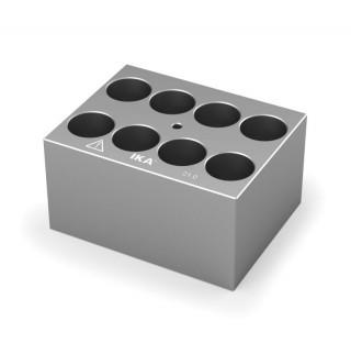 Block pour tubes fond rond 20 mm 8 trous , diametre des trous 21 mm profondeur des trous 48,4 mm , d