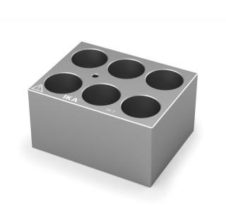 Block pour tubes fond rond 20 mm 6 trous , diametre des trous 26,2 mm profondeur des trous 48,4 mm ,