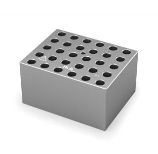Block pour tubes fond rond 6 mm 30 trous , diametre des trous 8,3 mm profondeur des trous 48,4 mm ,