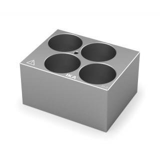 Block pour tubes fond rond 35 mm 4 trous , diametre des trous 35 mm profondeur des trous 47,6 mm , d