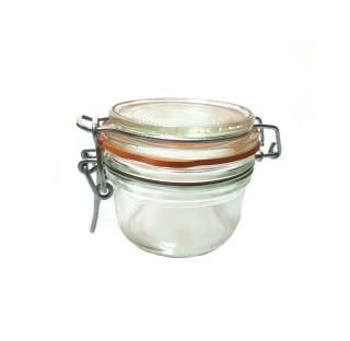 Bocal a terrine LPS 200 ml en verre blanc avec joint caoutchouc, bocaux, terrine Le Parfait en verre