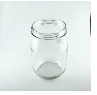 Bocal 1 litre en verre blanc, 1000ml bague BV95 (sans bouchon)