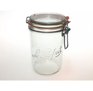 Bocal a terrine LPS 1000 ml en verre blanc avec joint caoutchouc, bocaux, terrine Le Parfait en verr