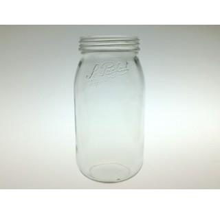 Bocal a terrine LPS 2000 ml en verre blanc a vis , bocaux, terrine Le Parfait en verre 2 litres