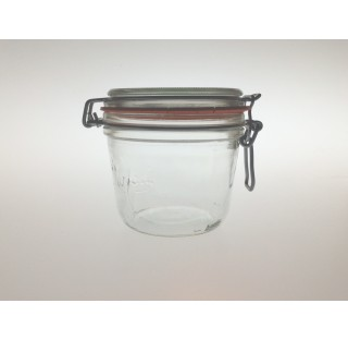 Bocal a terrine LPS 500 ml en verre blanc avec joint caoutchouc, bocaux, terrine Le Parfait en verre