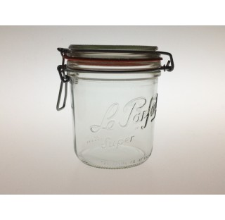 Bocal a terrine LPS 750 ml en verre blanc avec joint caoutchouc, bocaux, terrine Le Parfait en verre