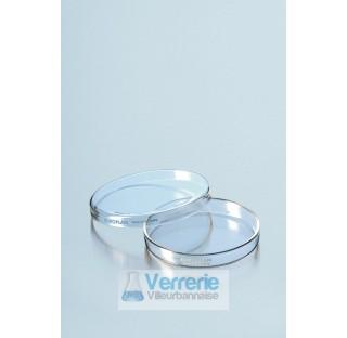 Boite de Petri DUROPLAN diametre 60 mm hauteur 20 mm  . Duran Schott . Verre borosilicate 3.3