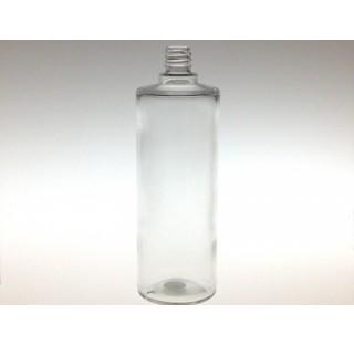 Bouillotte ronde 1000 ml en verre blanc bague EUR6 (1 litre), flacon cosmetique en verre