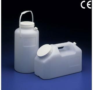 Bocal a urine HDPE vertical , grad. jusqu'a 2.5 litres Diametre de bouteille 130mm diam du col 74mm