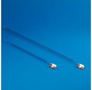 Burette 10ml 1/10 (PVC, PMP, FEP) classe B DIN 12.700 plastique Kartell