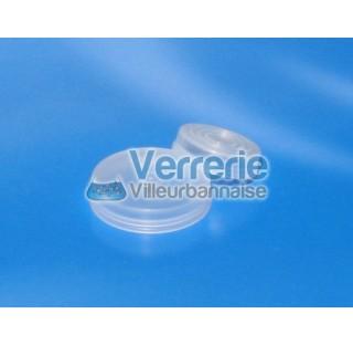 Cape attenante D22 pour pilulier en verre en polyethylene naturel non autoclavable