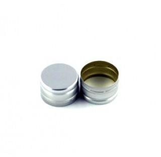 Capsule aluminium argent 28x18 a sertir, sans split et joint EPE400