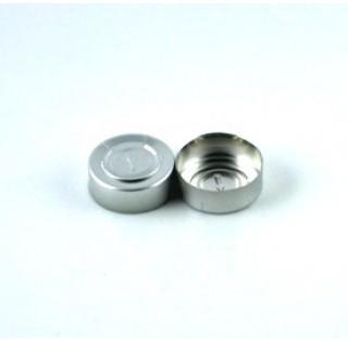 Capsule aluminium diametre 32 mm dechirable pour perfusion, a sertir operculable