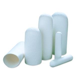 Cartouche d'extraction de soxhlet en cellulose,diametre 22 mm longueur 80 mm epaisseur 1,5 mm, 25 ca