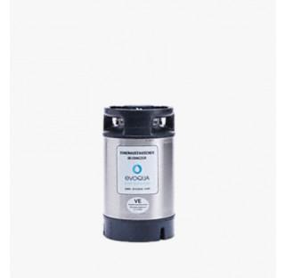 Cartouche demineralisatrice (vide) pour12,5 l de resine hauteur 410 mm diametre 230 mm, avec vanne d
