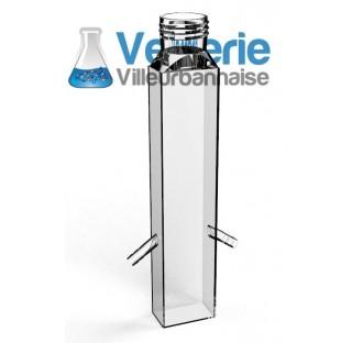 Cellule cubique GL45 olives diametre 10 mm , 55x32.5 mm hauteur 295 mm, en verre borosilicate