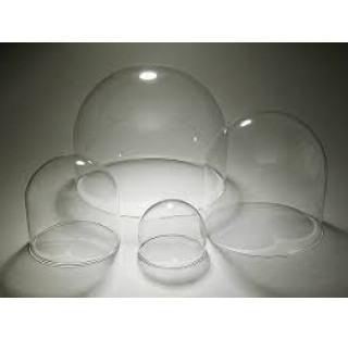 Cloche en verre  Diametre 180 mm externe hauteur 200 mm ep 5 sans bouton cloche de decoration en ver