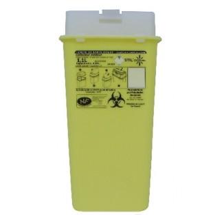 Collecteur dechets perforants 1.1 litre hauteur 225 mm  longueur : 115 mm largeur 74 mm avec cape at
