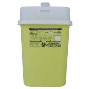 Collecteur dechets perforants 4,5 litres hauteur 278 mm  longueur : 190 mm largeur 129 mm avec cape