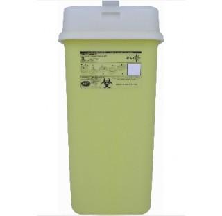 Collecteur dechets perforants 7 litres hauteur 390 mm  longueur : 190 mm largeur 133 mm avec cape at