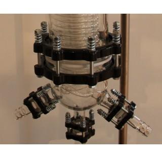 Systeme de fermeture pour bride verre KZ ou PZ DN25 avec joint en  PTFE resistance de temp.  120 deg
